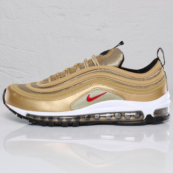 Cheap Nike Women's Air Max 97 Light Bone/Deadly Pink Mushroom